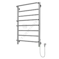 Полотенцесушитель электрический в форме лестницы Евромикс П8 500х825, сухой ТЭН, диммер, хром