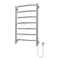 Полотенцесушитель электрический в форме лестницы Виктория П7 450х730, сухой ТЭН, диммер, хром