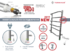 Полотенцесушитель электрический в форме лестницы Енисей П16 (6+4+3+3) 500х1348, сухой ТЭН, диммер, хром фото