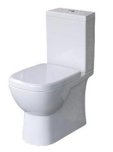 Унитаз-компакт напольный Quadro в комплекте с сиденьем и крышкой с микролифтом, механизм Geberit фото