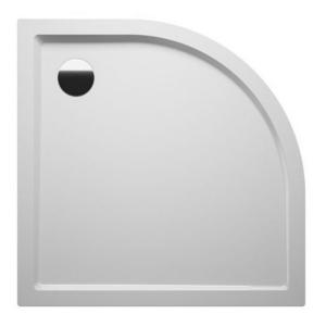 Поддон акриловый полукруглый Zurich 284 100х100х4,5 см для плоской установки фото